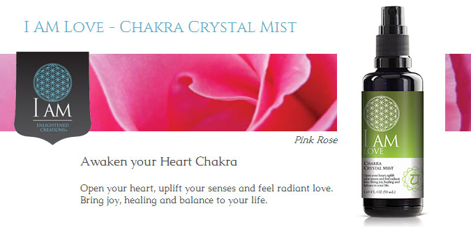 I Am Love Chakra Crystal Mists