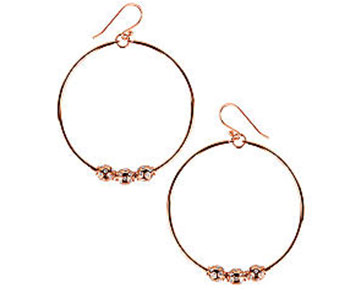 Earings - Sabine Hoops Rose Gold
